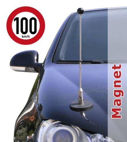DIPLOMAT magnetisch haftender Autofahnen-Ständer 1 mit Super-Magnet für Ihre Autoflaggen - Auto Fahne & Flagge