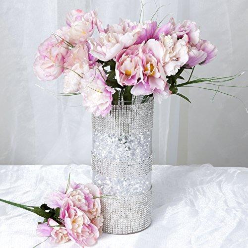 BalsaCircle 60 Lavender Silk Peony Flowers - 12 Bushes - Artificial Flowers Wedding Party Centerpieces Arrangements Bouquets Supplies
