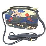 Nica [P3457] - Creative bag 'Nica' navy multicolor (2 compartments)- 20.5x13x5.5 cm (8.07''x5.12''x2.17'').