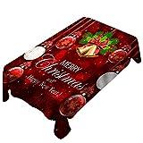 Litale Kreativ Weihnachten Tischplatten Dekoration Tischfahne Tischdecke Wasserabweisend Festival Tischset Tablecloth Küche Wohnzimmer Deko Wachstuchtischdecke...
