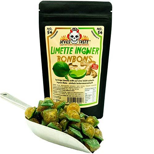 Limette Ingwer Bonbon - zuckerfrei- leicht scharf - sau lecker