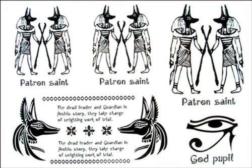 Dernière nouvelle conception 2012 nouvelle version de style égyptien, hommes et femmes autocollant de tatouage imperméable à l'eau