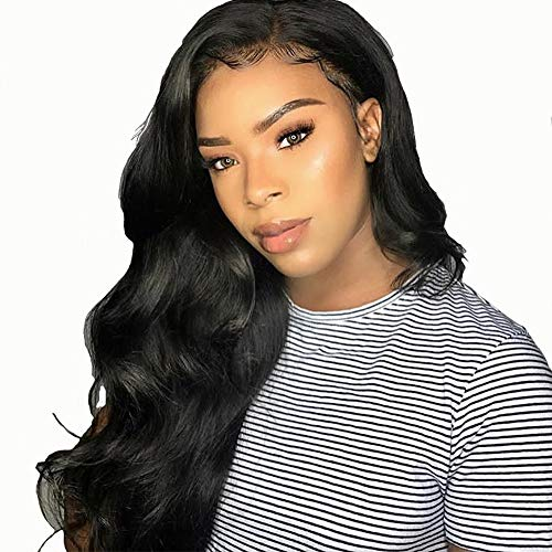 Closure Wigs Human Hair Brasilianische Body Wave Lace Closure Perücken Pre Plucked Hairline mit Baby Hair 100% Echthaar 4x4 Closure Adjustable Comfortable Wigs 14 Zoll
