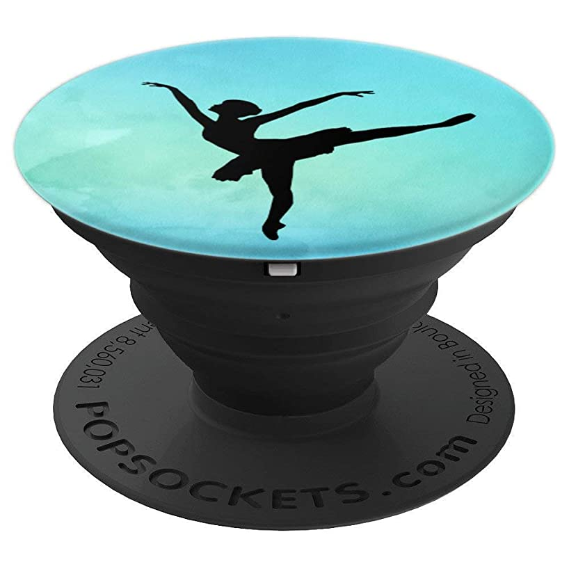Ballet Silhouette Pose Watercolor Dance Phone Grip Gift - PopSockets Grip and Stand for Phones and Tablets