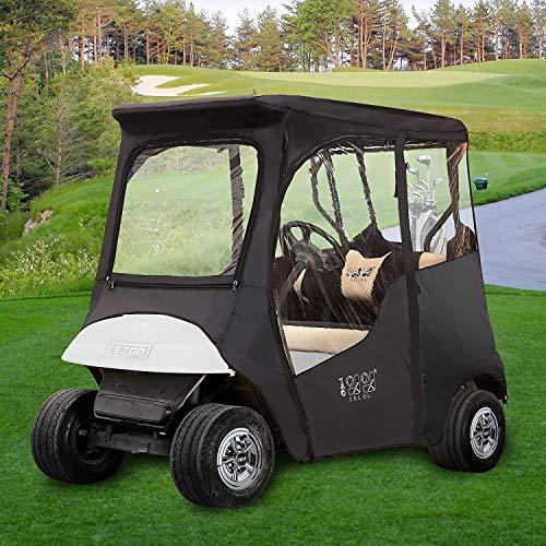 10L0L Golfwagen-Gehäuse für EZGO TXT 2 Passagier, 600D wasserdicht, tragbar, 4-seitiger Schutz, Golfwagenabdeckung, Fahrgehege, Dach bis 150 cm L