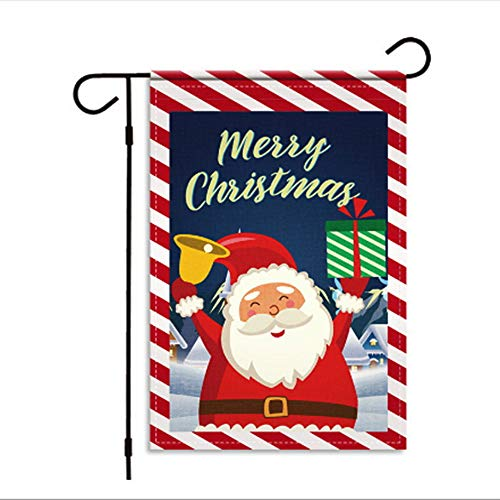 Byowah Winter Christmas Double Sided Snowman Flag for Outdoor Garden Front Door Porch Yard Decorative Christmas Flags Home Decor Winter Yard Decorations Holiday Banners Outdoor 12 x 18 Inch