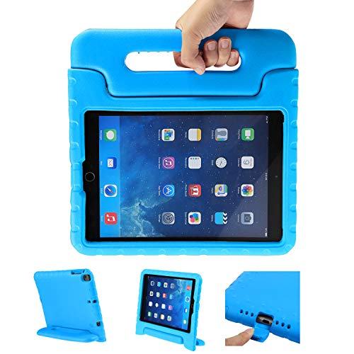 LEADSTAR Kinder Schutzhülle für iPad 9.7 2017 2018, Kinderfreundlich Kinder Schutz Hülle Eva Case Leichte Stoßfeste Schutzhülle Tasche für Apple iPad Air/iPad Air2 / iPad 9.7 2017 2018 (Blau)