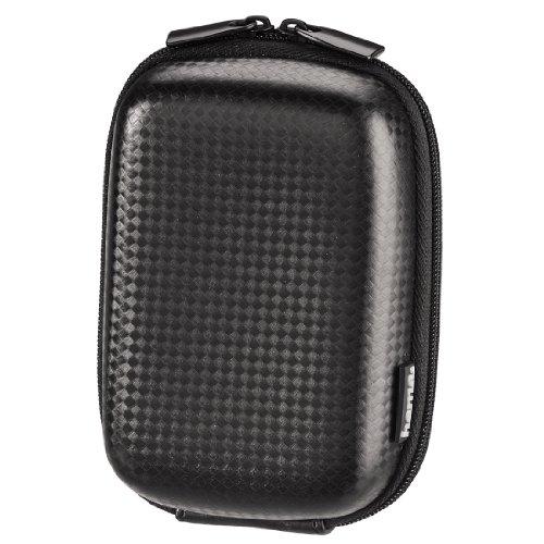 Hama Kameratasche – stabiles Hard Hülle im Carbon-Stil – perfekt als kleine Fototasche & zur Kamera Aufbewahrung – Farbe: Schwarz