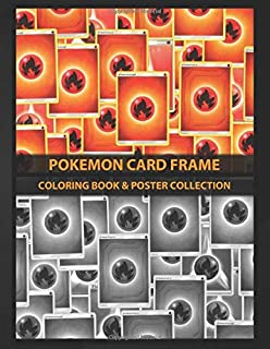 Coloring Book & Poster Collection: Pokemon Card Frame Pokemon Fire Energy Card From Several Sets Anime & Manga