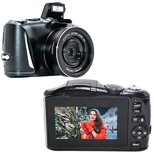YinFun Cámara digital 2,7 K Full HD compacta 48 megapíxeles con pantalla de 3 pulgadas, color negro