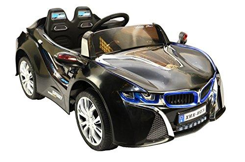 ES-TOYS Kinderfahrzeug - Elektro Auto Concept-2 2x30W - 2X 12V- 2,4Ghz, mit MP3 -Schwarz