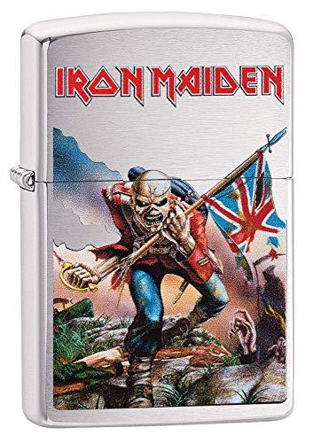 Zippo Unisex Iron Maiden Wildest Dreams - Mechero de Bolsillo Resistente al Viento, Unisex Adulto, 29432, Cromo Cepillado, Talla única