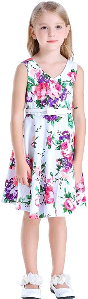 Happy Rose Girl's Credence Phoenix Mall Dress Floral Vintage Party