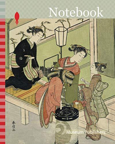 Notebook: Tree Peony: Chozan of Chojiya (Chojiya uchi Chozan, Kao), from the series Parodies of Floating-world Beauties as Flowers (Ukiyo bijin hana ... Japan, Color woodblock print, chuban
