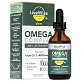 Vegan DHA Omega 3 Fatty Acids for Women and Men – Algae Omega 3 DHA Supplements – Fish-Free EPA DHA Vegan Omega 3 Supplements w/ Ahiflower Oil and Astaxanthin Supports Heart, Brain, and Joint Health