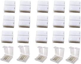 VIPMOON 20 Pack 4-Pin RGB 8 mm Adaptador de conector sin soldadura para SMD 2835 3528 Tira de luz LED no impermeable multicolor