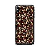 RockabillyM Skulls & Roses - Funda Carcasa para iPhone 11, 11 Pro, 11 Pro MAX, 12, 12 Mini, 12 Pro, 12 Pro MAX, 7, 7 Plus, 8, 8 Plus, SE (2020), X/XS, XR, XS MAX