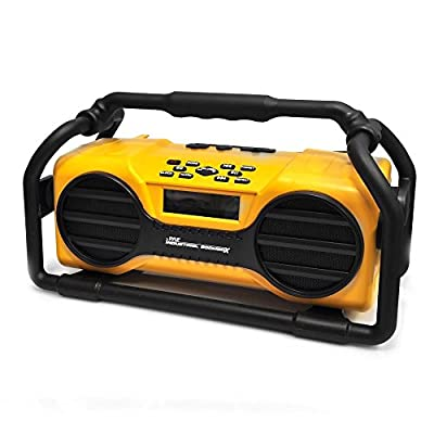 Pyle Industrial BoomBoX Splash Proof Heavy Duty Bluetooth Speaker (PJSR350OR)