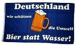 Fahne/Flagge Deutschland Bier statt Wasser 90 x 150 cm