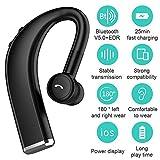 Stereo Bluetooth Earphone, TechCode Bluetooth V5.0 Wireless Headphone 180° Rotate Car Earphone