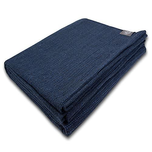 Craft Story - Coperta 'Fatima' I 100% cotone, I Bedspread I Plaid, Cotone, Blu, 220 x 170 cm