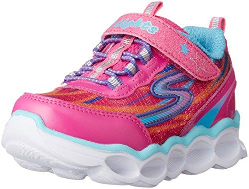 Skechers Kids Lumos-10613L Light-Up Sneaker (Toddler/Little Kid),Hot Pink/Multi,5 M US Toddler