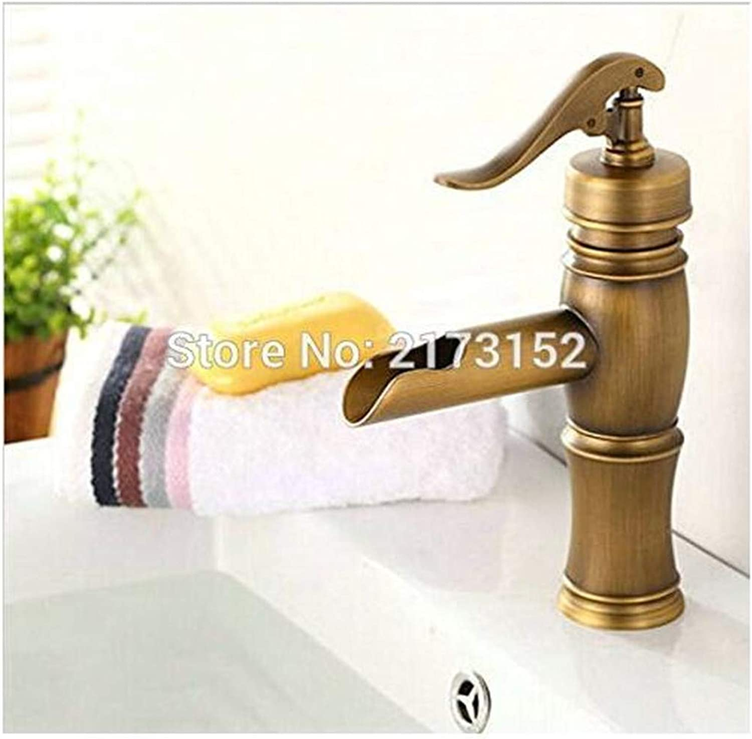 Chrome Brass Kitchen Faucet Antique Brass Waterfall Bathroom Faucet Classic Brass Hot & Cold Brass Basin Sink Mixer Tap