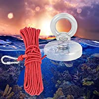 Zouminy Super Powerful Deep Sea Salvaging Lifting Magnet D48 Salvage Fishing Magnet, Fishing Magnet, Fishing Searching in Rivers Camping for Searching in Rivers