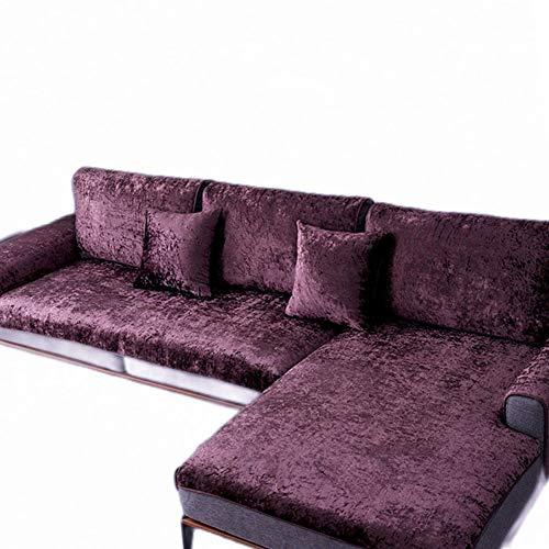 DANODA Plüsch Super Anti-rutsch Sofabezug, Ganzjahres-Wohnzimmer Sofabezug Outdoor Couch-abdeckungen Möbel Protector Für ledersofa Haustier Hund&Kinder,Lila,100x180cm(39x71Zoll)