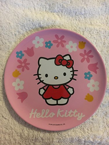 Trudeau 6516010H Plaques avec de Larges marges Hello Kitty So Lovely, Mélamine, Multicolore, 20x15x5 cm