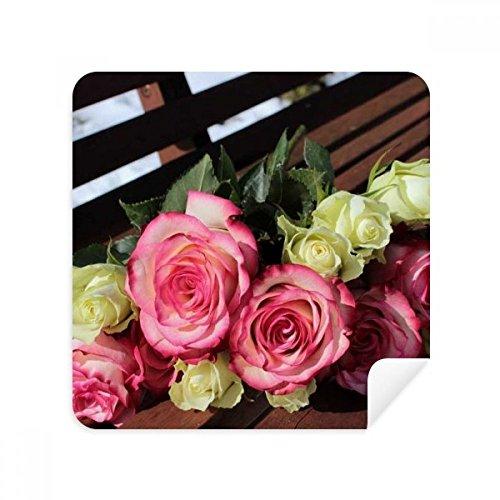 DIYthinker roze witte bloemen mooie bank bril schoonmaken doek telefoon scherm reiniger suède stof 2 Stks