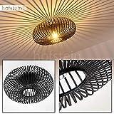 Plafonnier Lepa rond en métal noir - Abat-jour sphérique créant un jeu de lumière au plafond - Pour chambres à coucher - couloir - salle de séjour