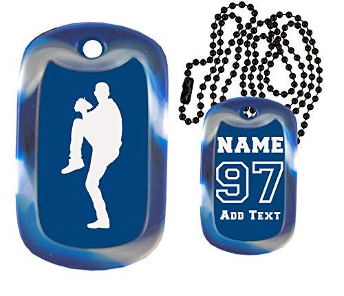 Gutentagit Baseball Dog Tags - Baseball - Custom Engraved Baseball Dog Tag Necklace