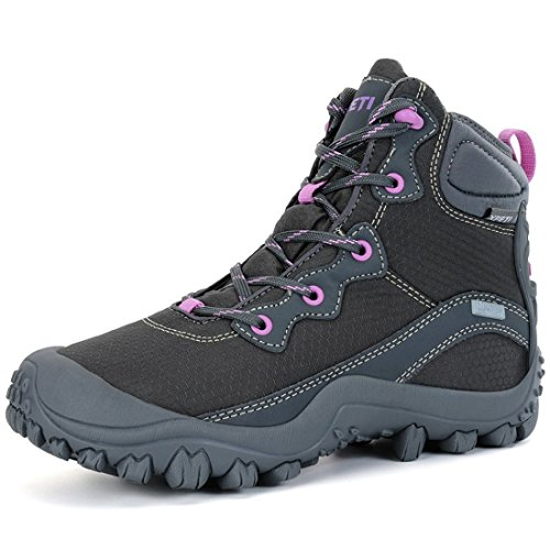XPETI Women's Dimo Mid Waterproof Mid Hiking Boot Walking Trail Anti-Slip Outdoor Boot Gray 10