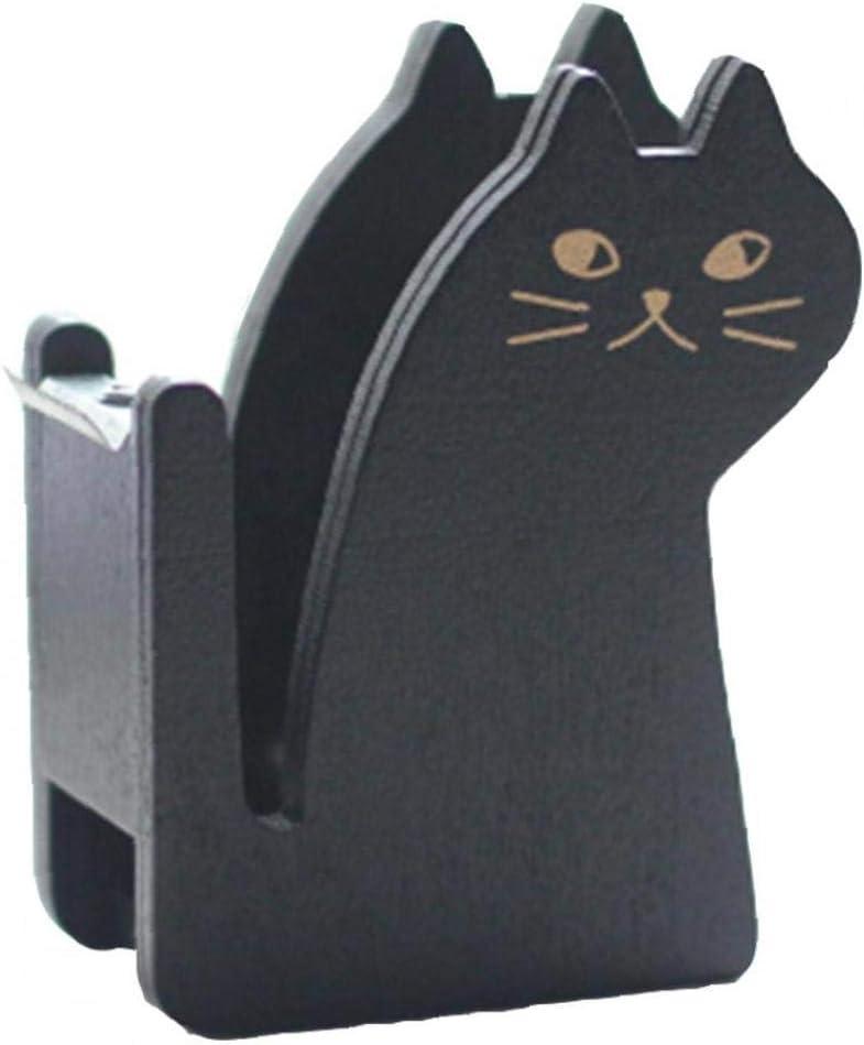 Portable Arlington Mall Wooden Indefinitely Tape Dispenser Cutt Desk Cute Cat