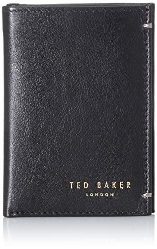 Ted Baker Herren Core sml Bifold Leather Wallet Reisezubehör-Bi-Fold-Brieftasche, Black, One Size