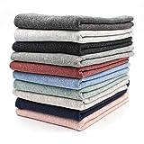 10x 0,25m Bündchenstoff Set Schlauchware 95% Baumwolle, 5%