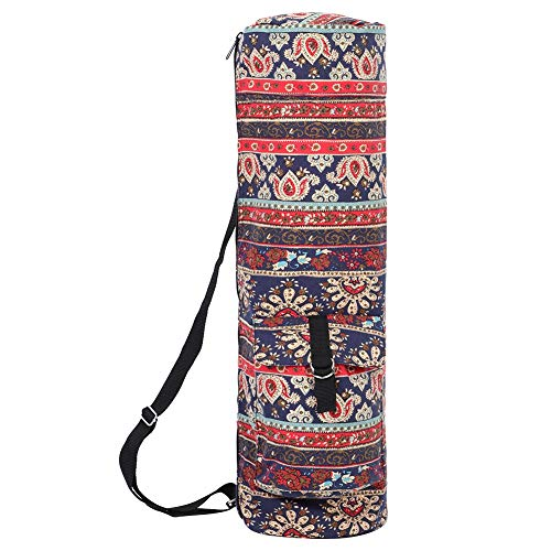 TEANQIkejitop Bolsa de Esterilla de Yoga Bolsa de Cintura Multifuncional Bolso de Lona con Cremallera para Yoga Bolso de Hombro para Fitness Cremallera Cinturón Ajustable Adecuado para La