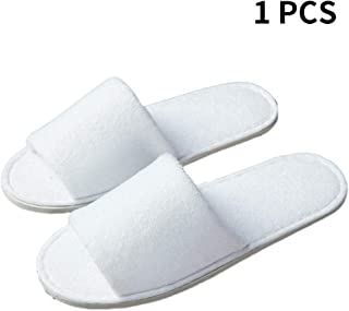 Disposable Slippers Open Toe Cotton Slippers Foldable Non Slip Breathable Slippers for Spa Bathroom Guests Travel Home Wedding Hotel Use,1/10 Pairs
