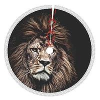 ビッグライオン クリスマスツリー フリンジ ツリースカート クリスマス飾り 厚くする カーペット ラウンド フロアマット インテリア 可愛い