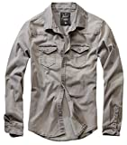 Brandit Denimshirt Riley - Grey - XXL