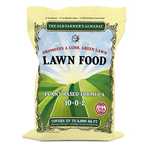 The Old Farmer's Almanac Lawn Food Fertilizer, 5,000 sq. ft.