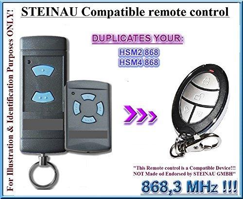 STEINAU HSE2/HSM4 Kompatibel Handsender, Ersatz sender, kompatibel mit Steinau HSE2, HSE4 Handsender, 868.3Mhz fixed code, Klone