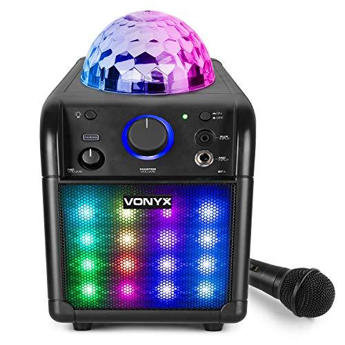 Vonyx SBS50B_Plus Altavoz portátil Set de Karaoke para Fiesta con micrófono y...