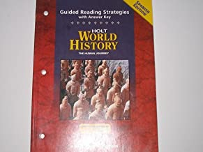 World History, Grades 9-12 Human Journey Guided Reading Strategies with Answer Key: Holt World History Human Journey (Spanish Edition)