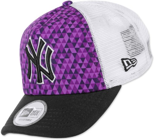 New Era New York NY Yankees MLB Purple Kaleidoscope Trucker Cap 9Forty Adjustable Baseball Cap Size Adjustable