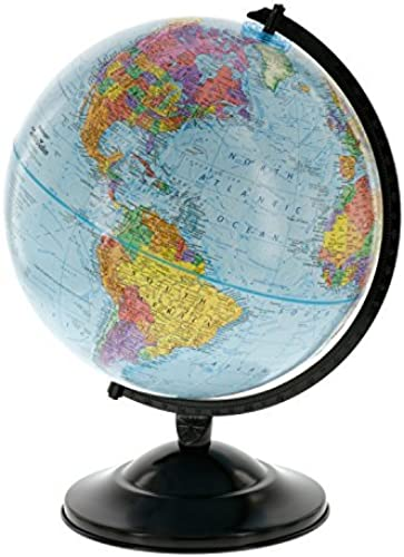 12 Globe With Blau Ocean Shading - Educational Raised Relief Political Globe - 2015 Country Lines by  Replogle Globes, Inc.