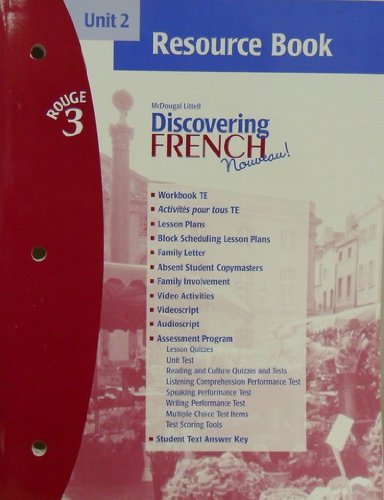 Discovering French Novveau (Unit 2 Resource Book, Rouge 3)