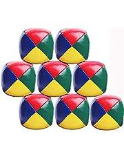 Jongleerballen, set van 9 klassieke jongleerballen voor beginners Kinderen Duurzame zachte, gemakkelijke jongleerballen voor kinderen en volwassenen