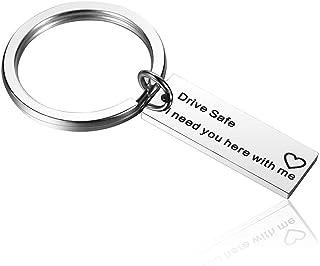 Warm Keychain Drive Safe Ich Brauche Sie Hier mit Mir Geschenke für Freund Mann Bester Freund Geburtstagsgeschenk Schlüsselanhänger